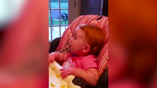 baby playing with dad, father,funny video
