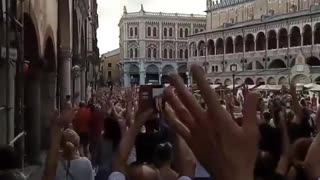 Padova, Italy: Green Pass, Lockdown Protest