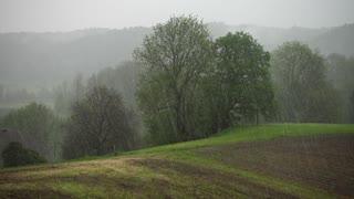country side heavy rain