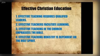 Pastor and Christian Education