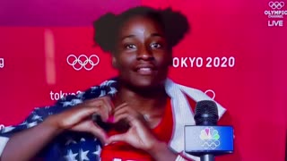 AMAZING: Gold Medalist Wrestler Gushes with Patriotism and Love for America