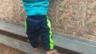 Toddler climbing 2