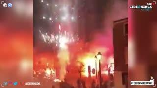 Dutch citizens celebrate New Years Eve despite firework ban