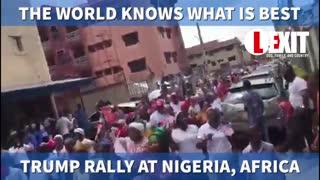 Massive rally for President Donald Trump in Nigeria