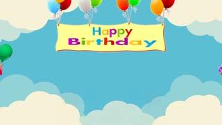 HAPPY BIRTHDAY SONG Balloons Greeting Card