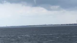 Waterspout over Oak Island, North Carolina