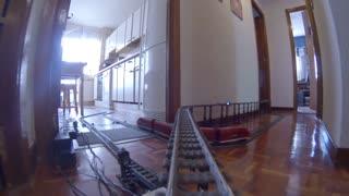 LEGO TRAIN DESDE LAS VIAS. CRS 9V ON BOARD GO PRO ,NO CRASH
