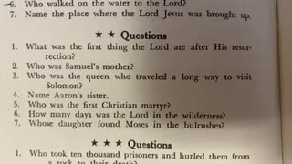 Bible Quiz 4 ⭐️⭐️