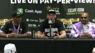Logan Paul Press Conference Highlights After Mayweather Fight