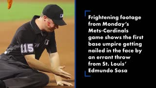 edmundo sosa drills umpire face with errant teroo