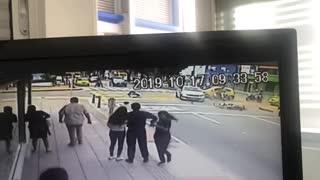 Accidente de tránsito en calle de Bucaramanga