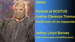 Oil Painting Portrait Demo SCOTUS Justice Clarence Thomas   Jeff Barnes Art