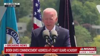 "Biden Has Awkward ""Please Clap"" Moment During Coast Guard Address"