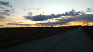sunset is very beautiful