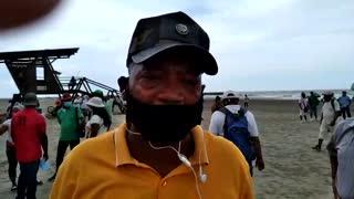 Protesta de vendedores en Bocagrande