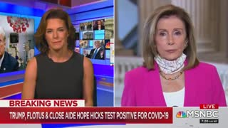 Nancy Pelosi politicizes Trump's positive COVID test
