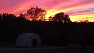 Sunset over the TN Cup Ranch