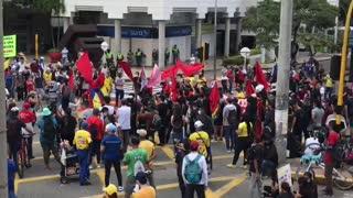 Protesta en Bucaramanga, día del trabajo