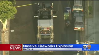 ILLEGAL FIREWORKS BLOW UP