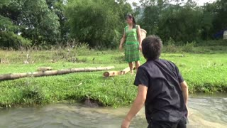 Primitive Fishing Catch Big Carp At River - Skill Catching Big Fish For Survival