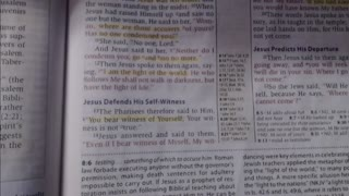 Bible study - John 8:13-20 NKJV - 5-27-2021