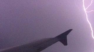 Intense Lightning Strike Captured From Plane