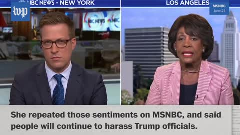 Maxine Waters - count they ways to inciting violence