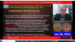 COVID 19 VACCINE CDC GUIDELINES FOR ALL OCCASIONS JAN 2021