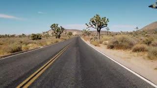 Desert highway in timelapse.
