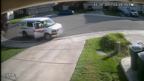 Home Security System Catches Amazon Delivery Driver Taking Care of Business
