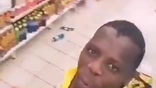 Crazy Looter dances while looting South Africa