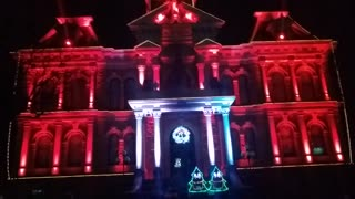 Cambridge Ohio Courthouse Christmas Light Display TOTO Africa Christmas Dec 2020