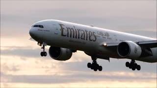 Boeing 777 landing |Aeroplane lands |Cinematic HD video
