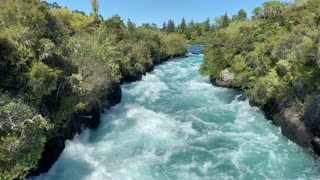 One of the most beautiful waterfalls in the world - Huka Falls, New Zealand.