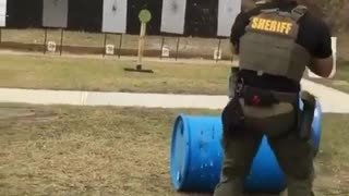 police training before going to shoot