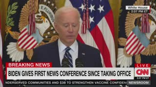 Biden Starts Yelling at Random Spots During Insane Press Conference