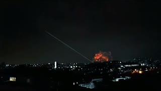Chinese rocket falling near the Maldives islands !!