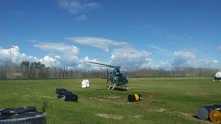 Chopper taking off