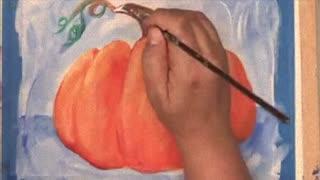 Pretty Pumpkin Painting