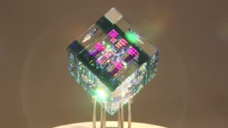 Blue Spectrum Cube