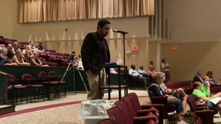 Portage school board meeting