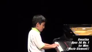 Juan David Flórez, uno de los niños prodigio del piano en Bucaramanga