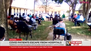 Covid patients escape from hospitals