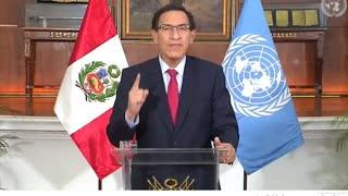 Vizcarra afirma que la COVID-19 es el mayor desafío para la humanidad