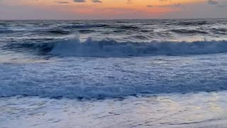 Cold morning beach
