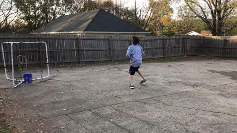 A Tennis Ball Trick Shot