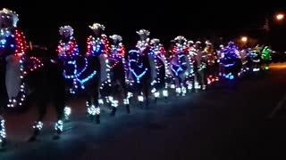 Equestrian Drill Team Shows Christmas Spirit