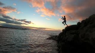 Hawaii cliff dives
