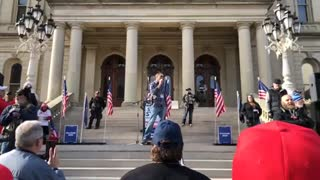 Day 8 STOP THE STEAL Rally at Michigan State Capitol Lansing Video 4