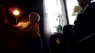 Toddler Bodhi wants mommy to pinch his bum